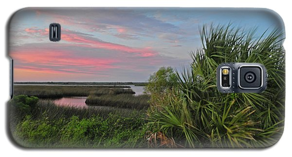 D32a-89 Sunset In Crystal River, Florida Photo Galaxy S5 Case