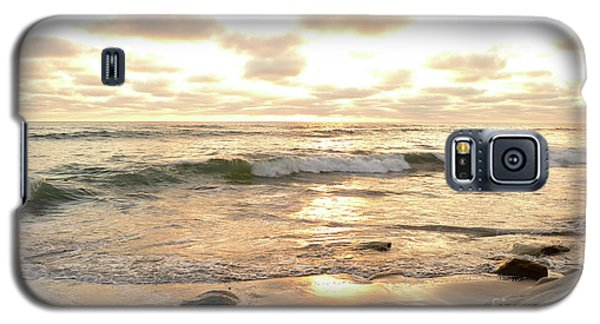 Sunset In Golden Tones Torrey Pines Natural Preserves #2 Galaxy S5 Case by Heather Kirk