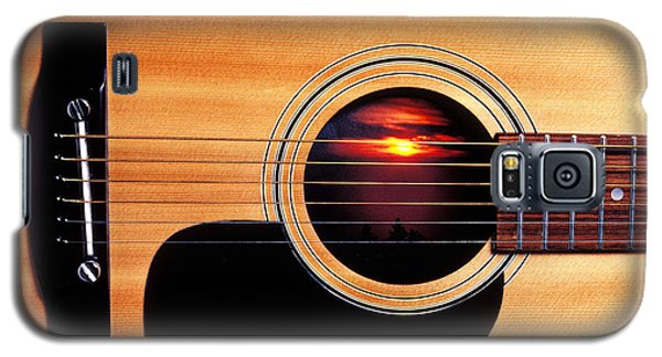 Sunset In Guitar Galaxy S5 Case