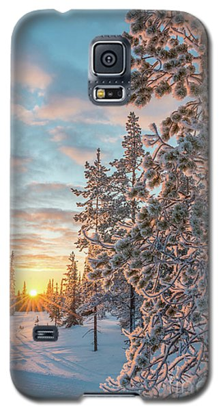 Galaxy S5 Case featuring the photograph Sunset In Lapland by Delphimages Photo Creations