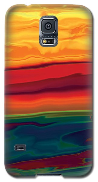 Galaxy S5 Case featuring the digital art Sunset In Ottawa Valley 1 by Rabi Khan
