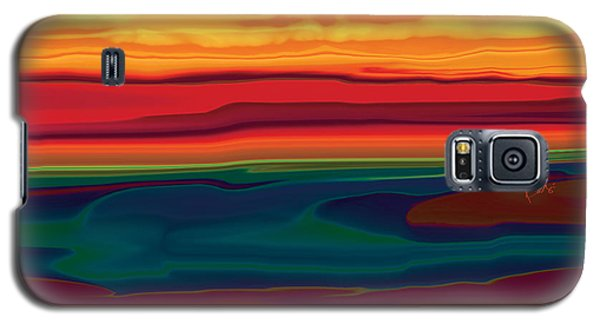Galaxy S5 Case featuring the digital art Sunset In Ottawa Valley by Rabi Khan