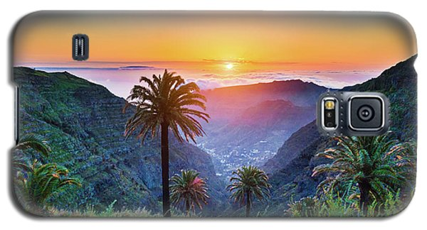 Sunset In The Canary Islands Galaxy S5 Case by JR Photography