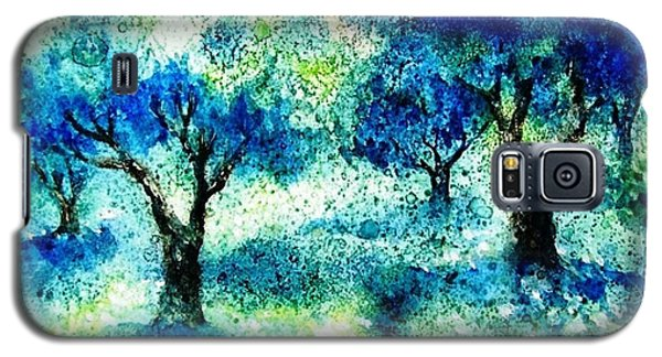 Galaxy S5 Case featuring the painting Sunset In The Olive Grove  by Trudi Doyle