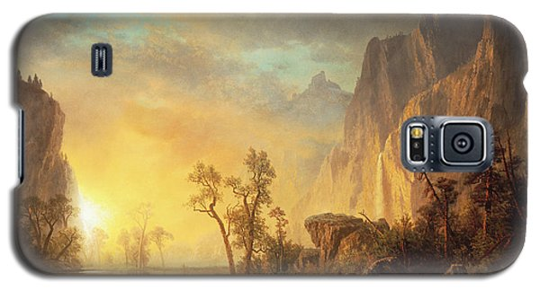 Sunset Galaxy S5 Case - Sunset In The Rockies by Albert Bierstadt