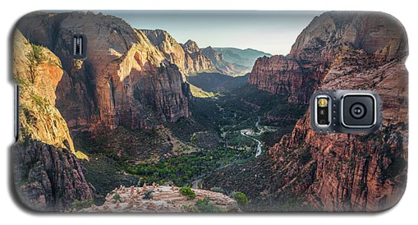 Sunset In Zion National Park Galaxy S5 Case by JR Photography