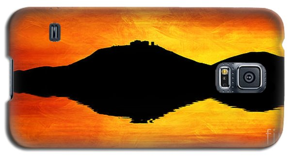 Galaxy S5 Case featuring the digital art Sunset Island by Ian Mitchell