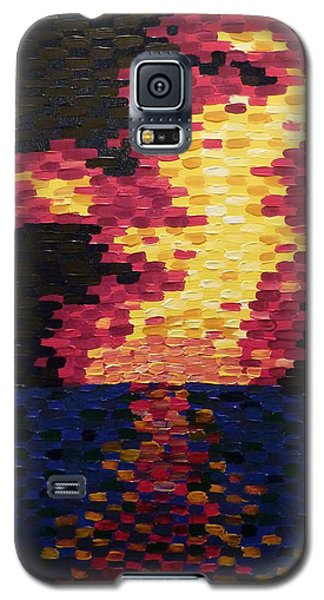 Galaxy S5 Case featuring the painting Sunset by Joshua Redman