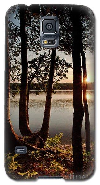 Sunset, Kennebec River, South Gardiner, Maine  -8364-8368 Galaxy S5 Case