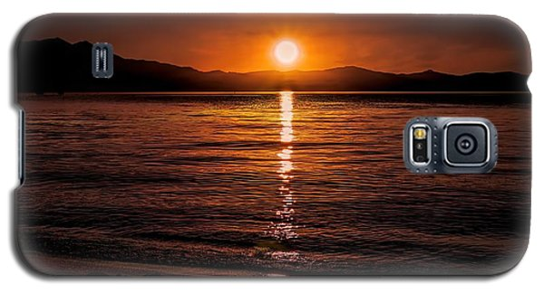 Sunset Lake 810pm Textured Galaxy S5 Case