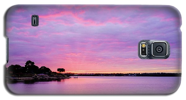 Sunset Lake Arlington Texas Galaxy S5 Case