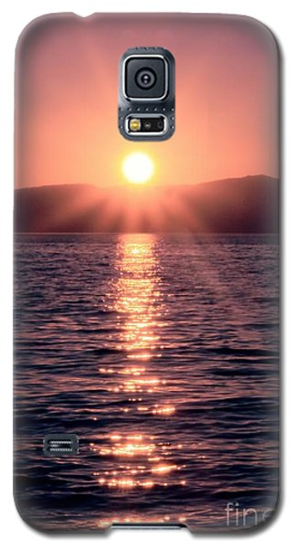 Sunset Lake Verticle Galaxy S5 Case