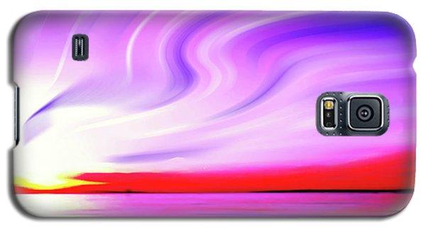 Sunset Light Painting At Edmonds Washington Waterfront Galaxy S5 Case