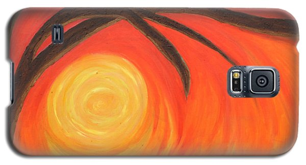 Galaxy S5 Case featuring the painting Sunset by Lola Connelly