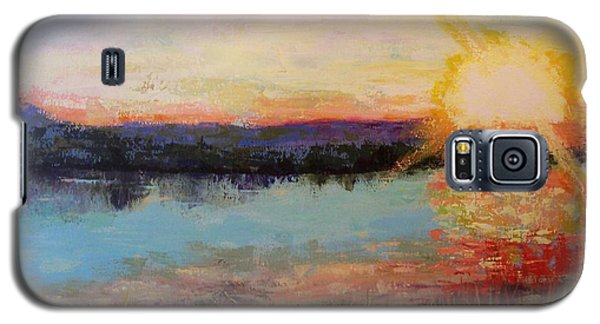 Galaxy S5 Case featuring the painting Sunset by Marlene Book