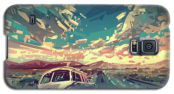 Sunset Oh The Road Galaxy S5 Case by Bekim Art