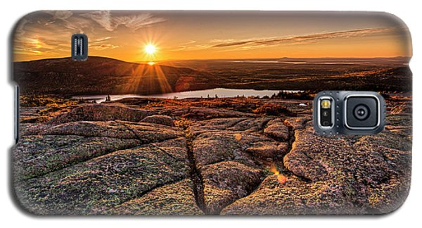 Sunset On Cadillac Mountain Galaxy S5 Case