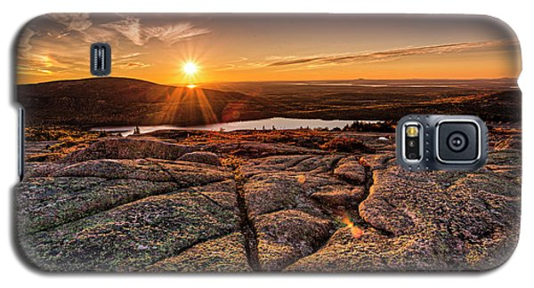 Sunset On Cadillac Mountain Galaxy S5 Case