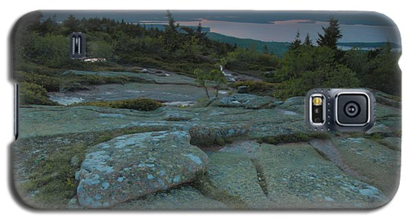 Galaxy S5 Case featuring the photograph Sunset On Cadillac Mountain by Stephen  Vecchiotti