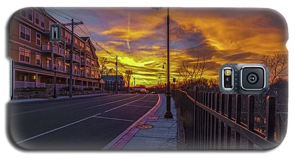 Sunset On Eliot St Milton Ma Galaxy S5 Case