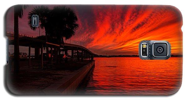 Sunset On Fire Galaxy S5 Case