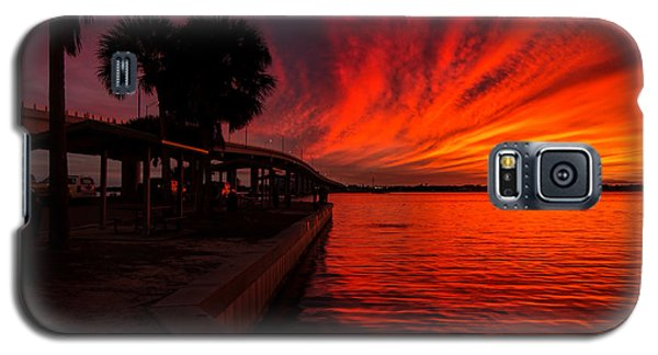 Sunset On Fire Galaxy S5 Case