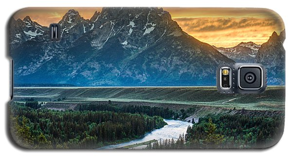 Sunset On Grand Teton And Snake River Galaxy S5 Case