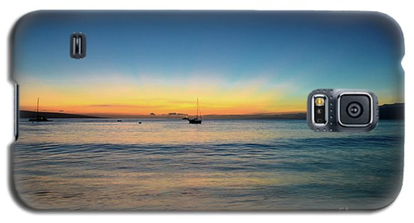Galaxy S5 Case featuring the photograph Sunset On Ka'anapali Beach by Kelly Wade
