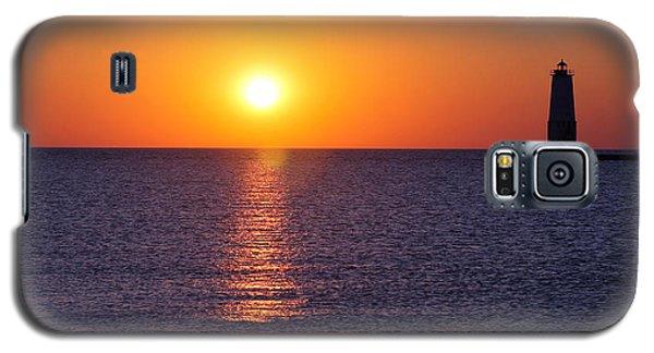 Sunset On Lake Michigan Galaxy S5 Case