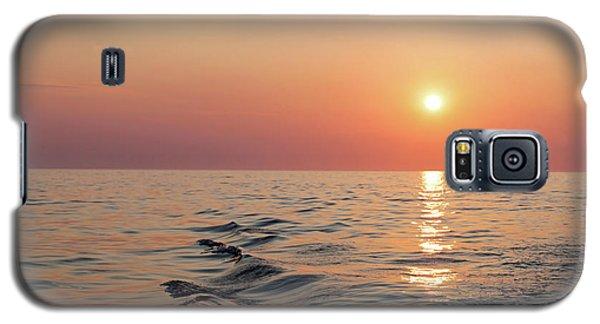 Sunset On Lake Michigan Galaxy S5 Case by Melanie Alexandra Price