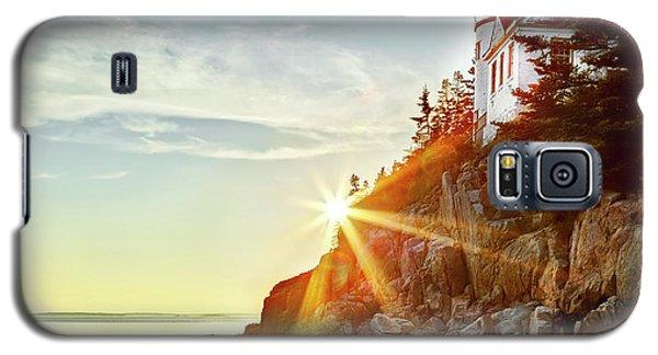 Ocean Sunset On Maine's Bass Harbor Lighthouse Galaxy S5 Case