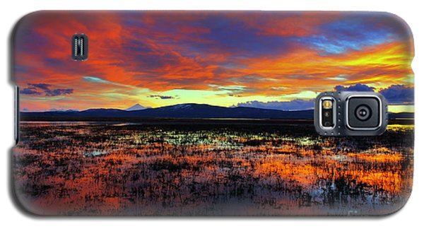 Sunset On  Marshes  Galaxy S5 Case by Irina Hays