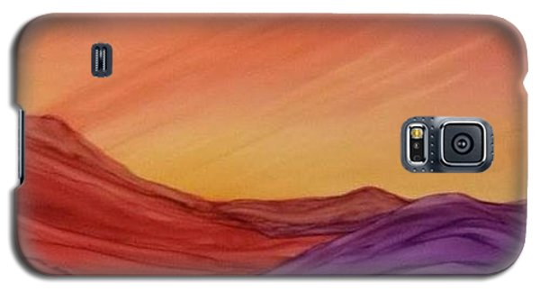 Sunset On Red And Purple Hills Galaxy S5 Case
