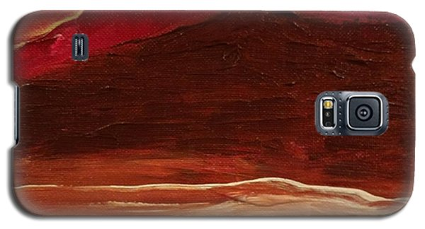 Sunset On Red Mountain Galaxy S5 Case
