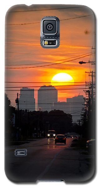 Sunset On The City Galaxy S5 Case