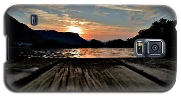 Sunset On The Dock Galaxy S5 Case