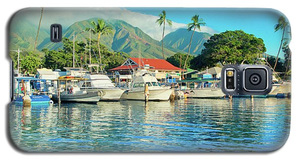 Sunset On The Marina Lahaina Harbour Maui Hawaii Galaxy S5 Case