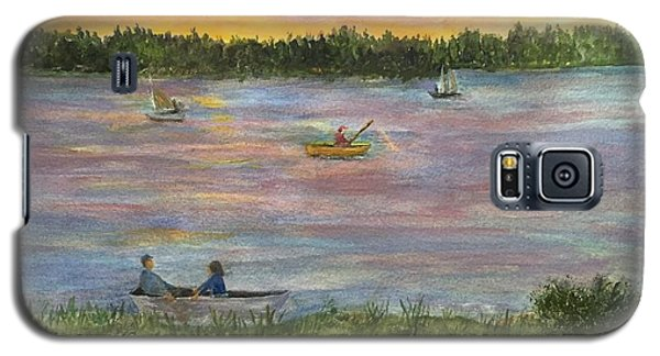 Sunset On The Merrimac River Galaxy S5 Case