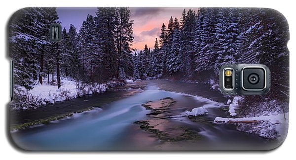 Galaxy S5 Case featuring the photograph Sunset On The Metolius by Cat Connor