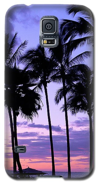 Galaxy S5 Case featuring the photograph Sunset On The Palms by Debbie Karnes