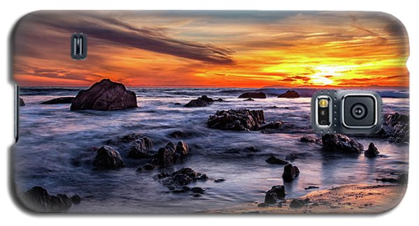 Sunset On The Rocks Galaxy S5 Case
