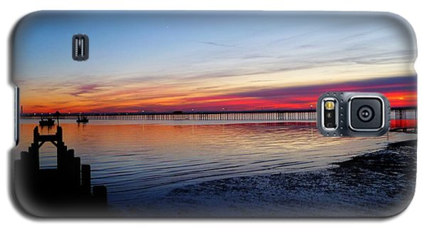 Sunset On The Shore Of Southend Galaxy S5 Case