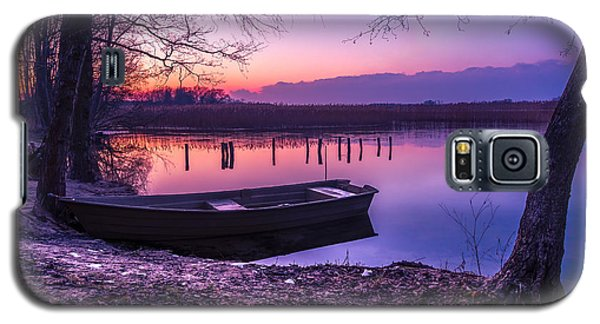 Sunset On The White Lake Galaxy S5 Case