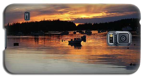 Sunset On Vinalhaven Maine Galaxy S5 Case