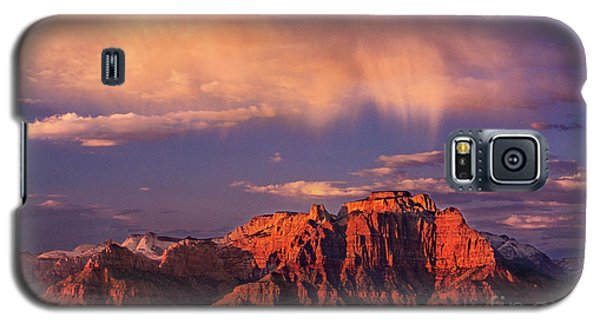 Sunset On West Temple Zion National Park Galaxy S5 Case