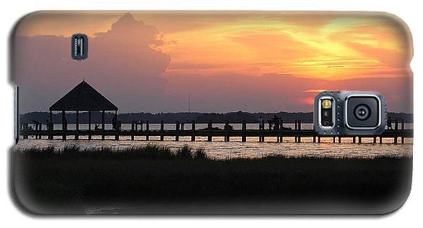 Sunset On Wetlands Walkway Galaxy S5 Case
