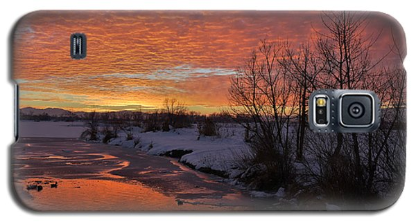 Sunset Over Bountiful Lake Galaxy S5 Case