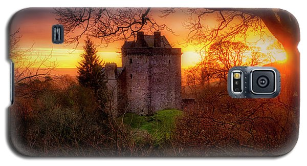 Galaxy S5 Case featuring the photograph Sunset Over Castle Campbell In Scotland by Jeremy Lavender Photography