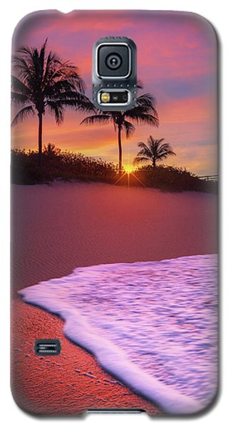 Sunset Over Coral Cove Park In Jupiter, Florida Galaxy S5 Case by Justin Kelefas