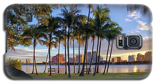 Sunset Over Downtown West Palm Beach From Palm Beach Island Galaxy S5 Case